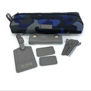 Tumi Blue Camo Accent Kit Luggage Tag Monogram